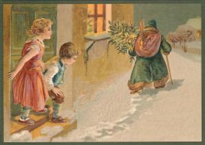 Postkarte Weihnachten geprägt 6Wp129