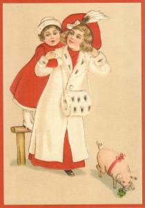 Postkarte Weihnachten geprägt 6Wp137
