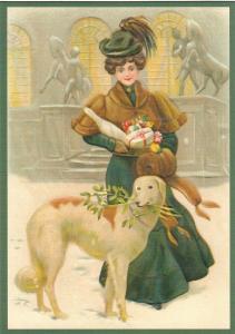 Postkarte Weihnachten geprägt 6Wp138