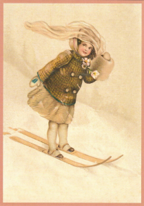 Postkarte Weihnachten geprägt 6Wp140