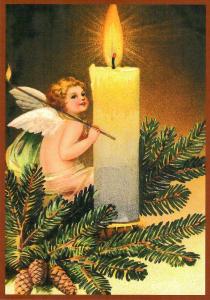 Postkarte Sortiment Weihnachten beglittert 6Wg119