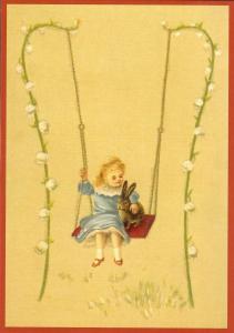 Glückwunschpostkarte beglittert 6Gg163