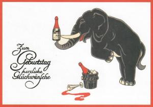 Postkarte vermenschlichte Tiere (A6) ohne unveredelt 6Vn056