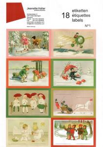 Aufkleberbogen mit 18 Etiketten - Weihnachten