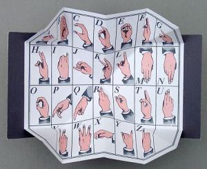 Kleines Finger ABC (ohne Aufsteller)