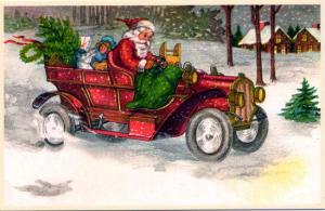 Weihnachtsmannkarte S002 / W180