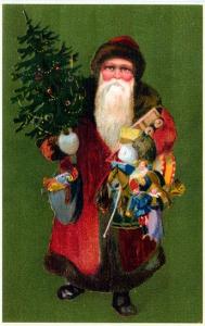 Weihnachtsmannkarte S006