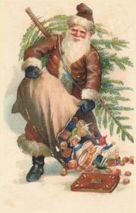 Weihnachtsmannkarte S009