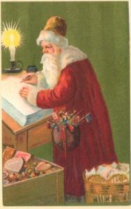 Weihnachtsmannkarte S007