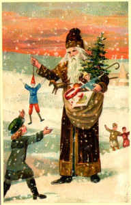 Weihnachtsmannkarte S012
