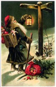 Weihnachtsmannkarte S011
