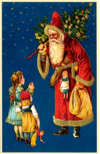 Weihnachtsmannkarte S010