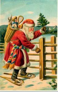 Weihnachtsmannkarte S016