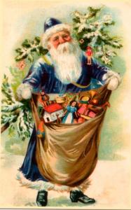 Weihnachtsmannkarte S015