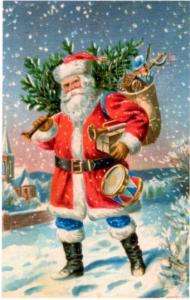 Weihnachtsmannkarte S013