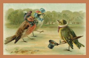 Vermenschlichte Tierkarte V076