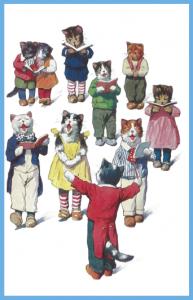Vermenschlichte Tierkarte V026