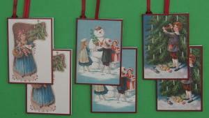 Weihnachtsanhänger 2 x 3 Motive