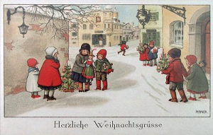 Weihnachtskarte F6 (French text)