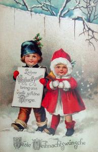 Weihnachtskarte W008 (deutscher Text)