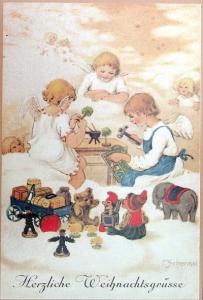 Weihnachtskarte F17 (French text)