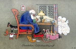Weihnachtskarte W029 (German text)