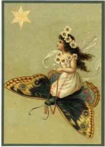 Glückwunschpostkarte beglittert 6Gg022