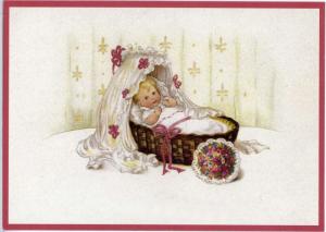 Glückwunschpostkarte beglittert 6Gg002