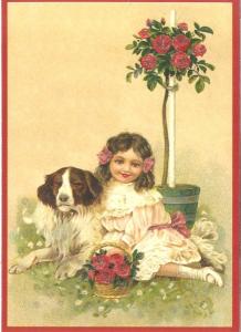 Glückwunschpostkarte beglittert 6Gg008