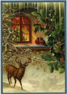 Postkarte Sortiment Weihnachten beglittert 6Wg007