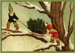 Postkarte Sortiment Weihnachten beglittert 6Wg019