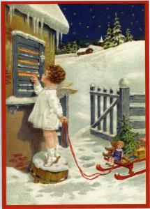 Postkarte Sortiment Weihnachten beglittert 6Wg022