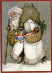 Postkarte Sortiment Weihnachten beglittert 6Wg026