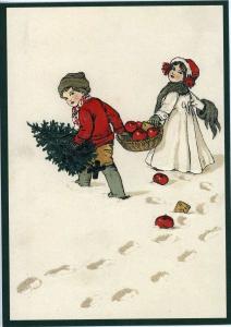 Postkarte Sortiment Weihnachten beglittert 6Wg032