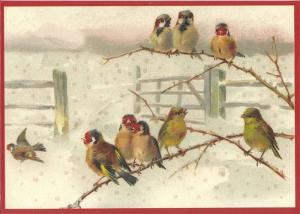 Postkarte Sortiment Weihnachten beglittert 6Wg018