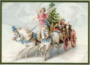Postkarte Sortiment Weihnachten beglittert 6Wg003