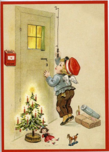 Postkarte Sortiment Weihnachten beglittert 6Wg005