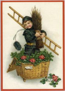 Postkarte Sortiment Weihnachten beglittert 6Wg001 Neujahr