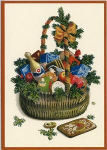 Postkarte Sortiment Weihnachten beglittert 6Wg006