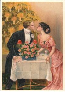 Postkarte Sortiment Weihnachten beglittert 6Wg040