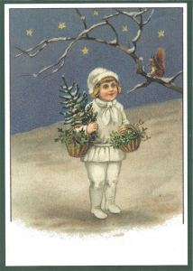 Postkarte Sortiment Weihnachten beglittert 6Wg023