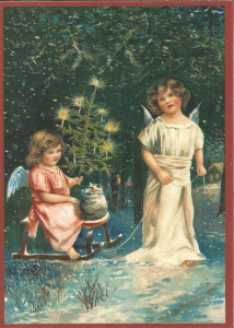 Postkarte Sortiment Weihnachten beglittert 6Wg025