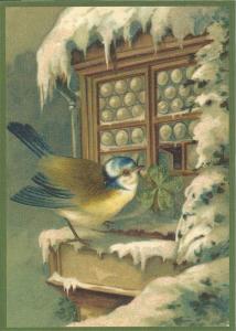 Postkarte Sortiment Weihnachten beglittert 6Wg027