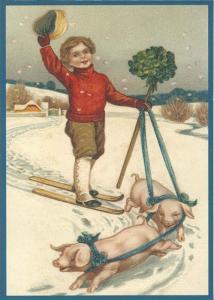 Postkarte Sortiment Weihnachten beglittert 6W014/6Wg014