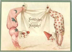 Postkarte Sortiment Weihnachten beglittert 6Wg057