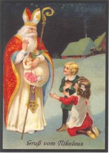 Postkarte Sortiment Weihnachten beglittert 6Wg055