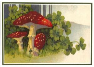 Postkarte Sortiment Weihnachten beglittert 6Wg058