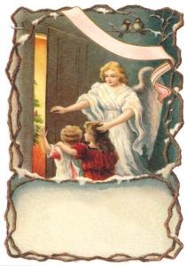 Postkarte Sortiment Weihnachten beglittert 6Wg053