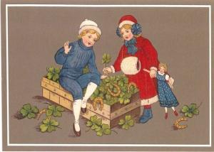 Postkarte Sortiment Weihnachten beglittert 6Wg054