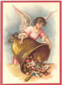 Postkarte Sortiment Weihnachten beglittert 6Wg056